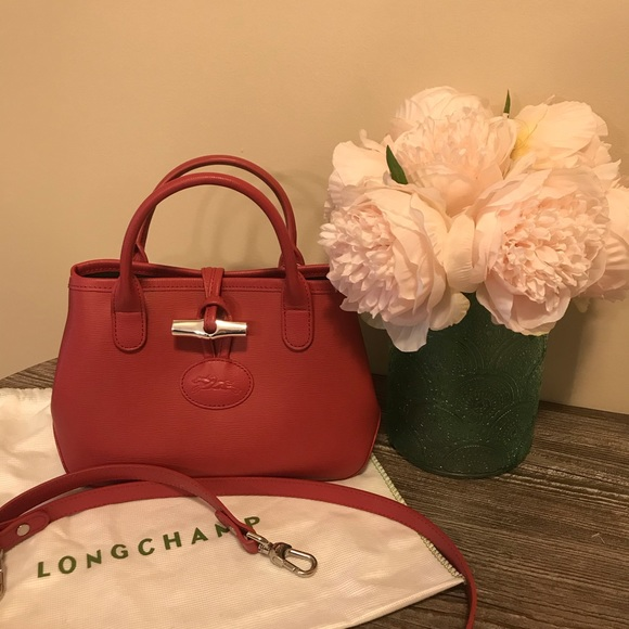 Longchamp Mini Roseau Crossbody Bag Like New Fig